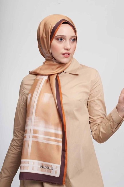Mizalle - Stripe Patterned Shawl (Yellow)