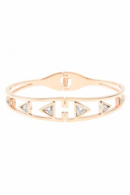 Mizalle - Triangle Steel Bracelet (St)