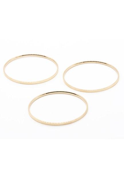 Mizalle - Triple Steel Bracelet (Copper Colored)