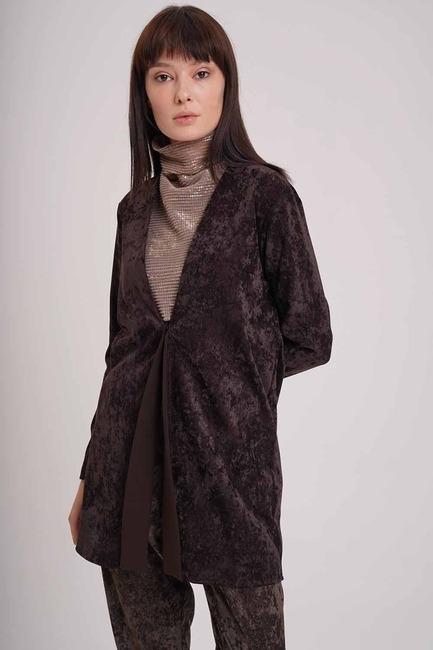 Mizalle - Velvet Jacket (Brown)