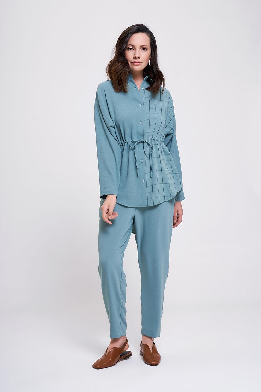 Mizalle - Waist Lace Up Shirt (Mint)