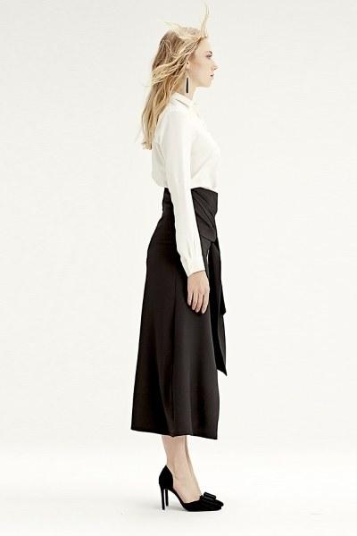 Mizalle - Waistbelt Skirt (Black) (1)