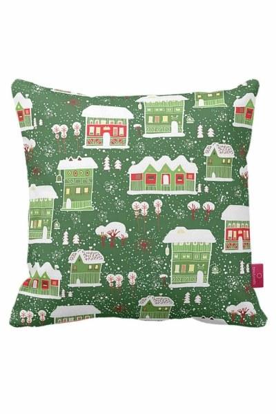 Mizalle Home - Winter Themed Decorative Pillow Case (43X43)
