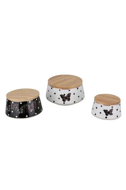 Mizalle Home - Wooden Lid Jar Set (Mix)