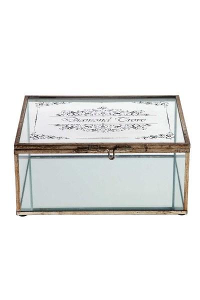 MIZALLE صندوق مجوهرات معدني (كبير)