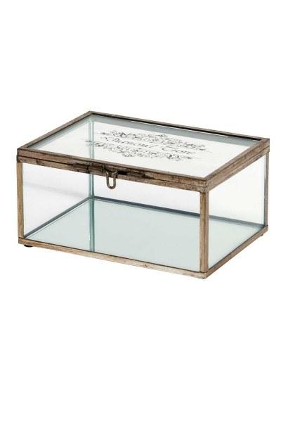 MIZALLE صندوق مجوهرات معدني (صغير)