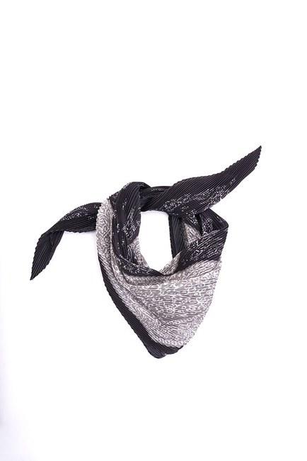 Etnik Desenli Fular (Siyah) - Thumbnail