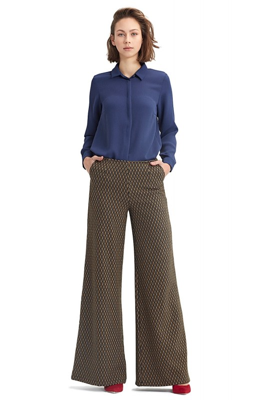 Ethnical Patterned Trousers (Brown)