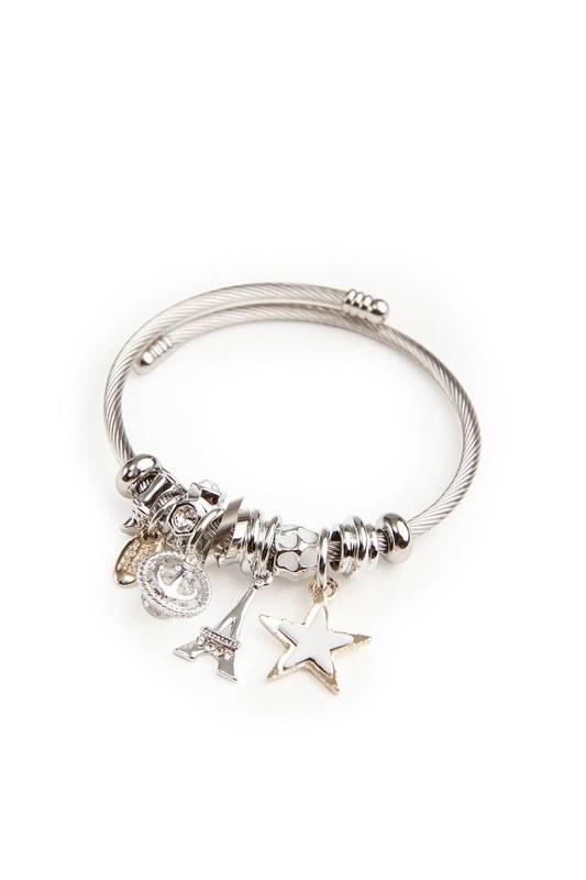 Eiffel Tower Bracelet (White)
