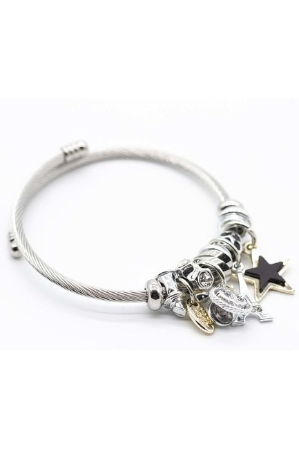 MIZALLE - Eiffel Tower Bracelet (Black) (1)