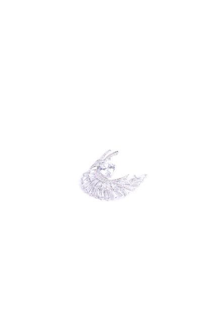MIZALLE - بروش ريشة مفصل (رمادي) (1)