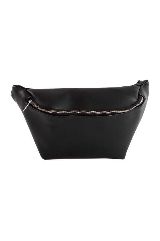 سحاب مفصلة ، حقيبة الخصر مع حزام (أسود)