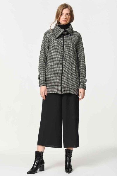 MIZALLE - Zippered Jacket Cup (Smoke) (1)