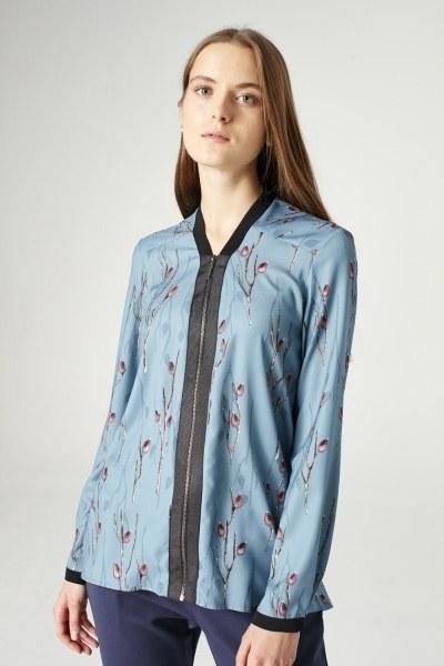 Mizalle - Fermuarlı Gömlek (Mavi)