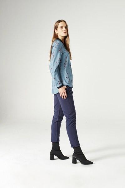 MIZALLE - قميص بسحاب ( أزرق ) (1)