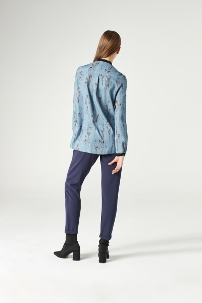 Shirt With Zipper (Blue) - Thumbnail