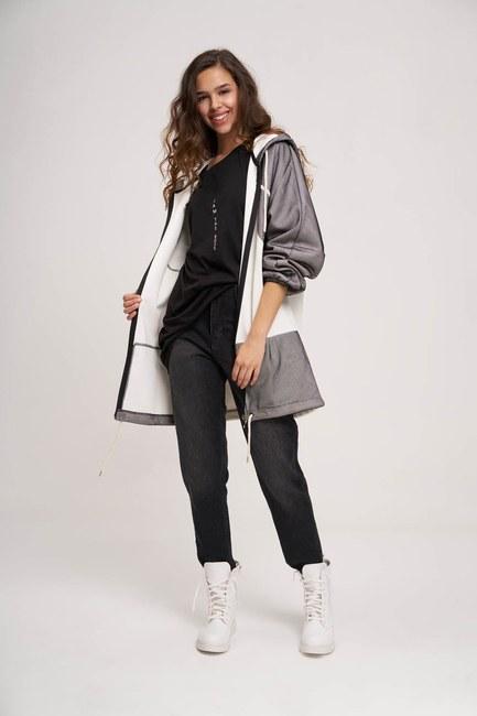 MIZALLE YOUTH - File Detaylı Sweatshirt (Beyaz) (1)