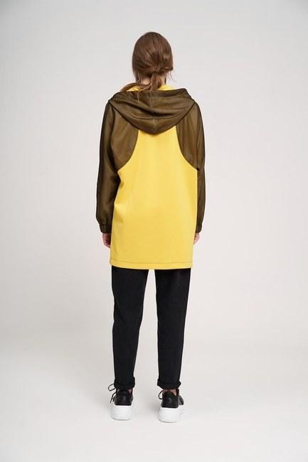 File Detaylı Sweatshirt (Sarı) - Thumbnail