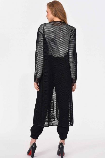 File Fermuarlı Ceket (Siyah) - Thumbnail