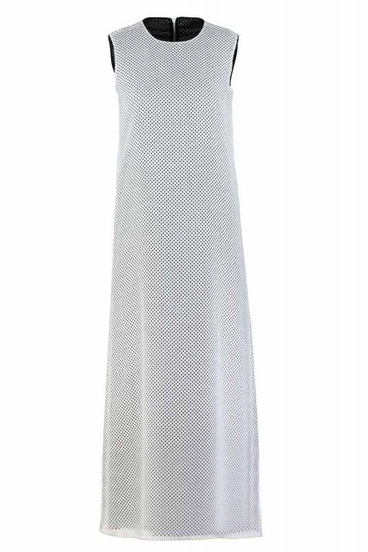 File Kolsuz Elbise (Beyaz)