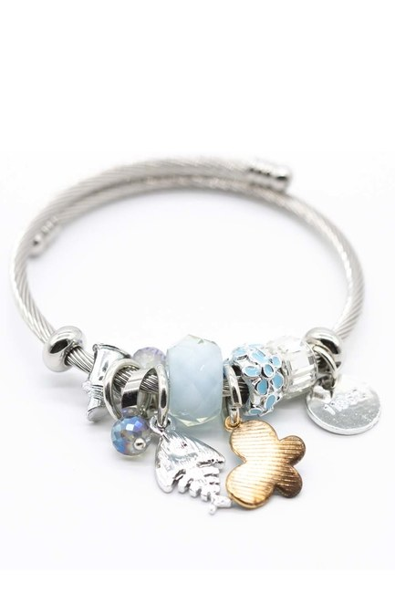 Fish Detailed Bracelet (Blue) - Thumbnail
