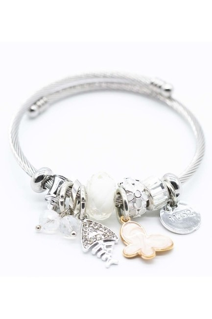MIZALLE Fish Detailed Bracelet (White)