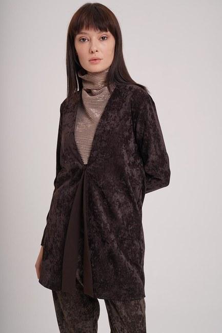 Fitilli Kadife Ceket (Kahverengi) - Thumbnail