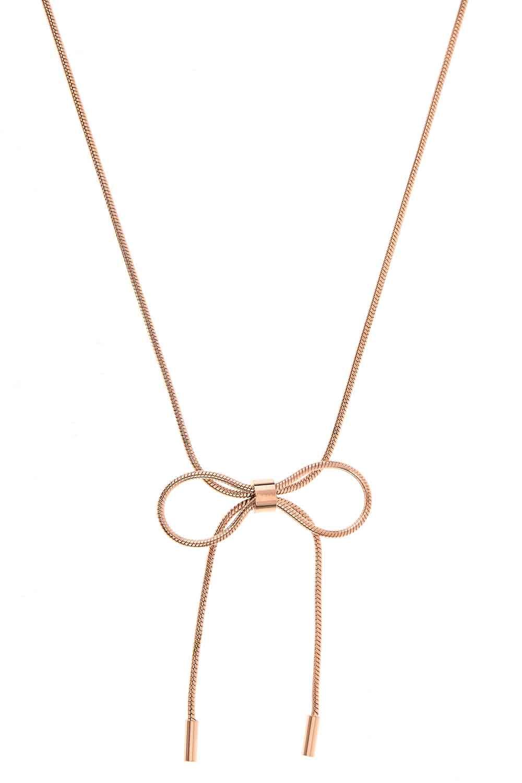 MIZALLE Bow Steel Necklace (St) (1)