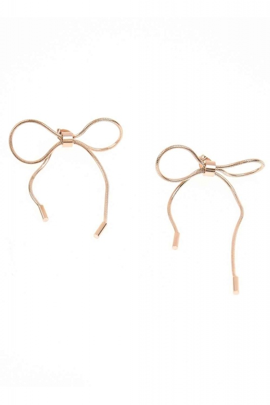 Bow Form Steel Earrings (St)