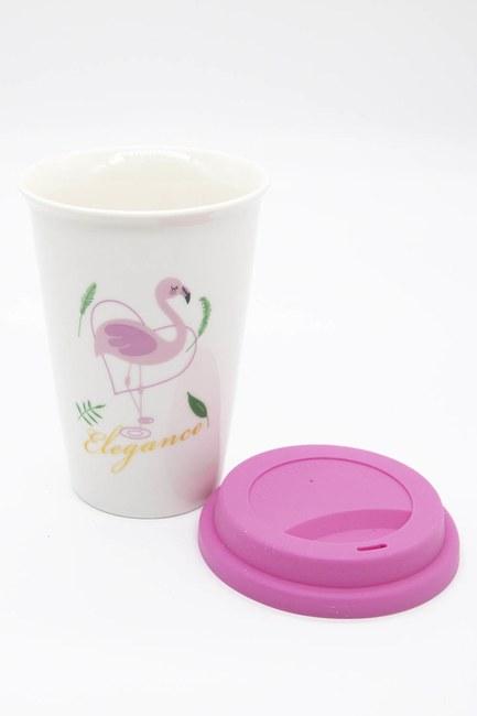 MIZALLE HOME - Flamingo Porcelain Mug (Pink) (1)