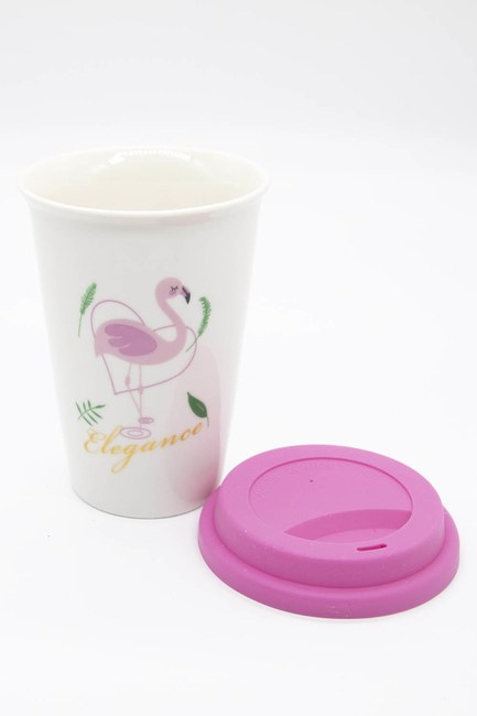 Mizalle Home - Flamingo Porselen Kupa (Pembe) (1)