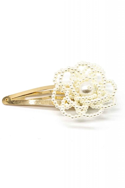 Flower Detailed Pearl Hair Clips