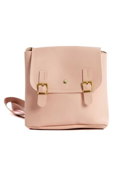 Front Snap-on Women's Backpack (Powder) - Thumbnail