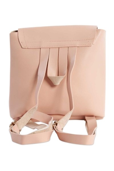 MIZALLE - Front Snap-on Women's Backpack (Powder) (1)