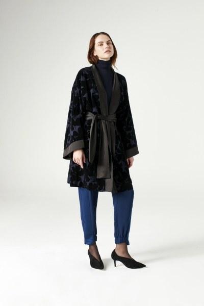 MIZALLE - Garnili Kimono (Lacivert) (1)