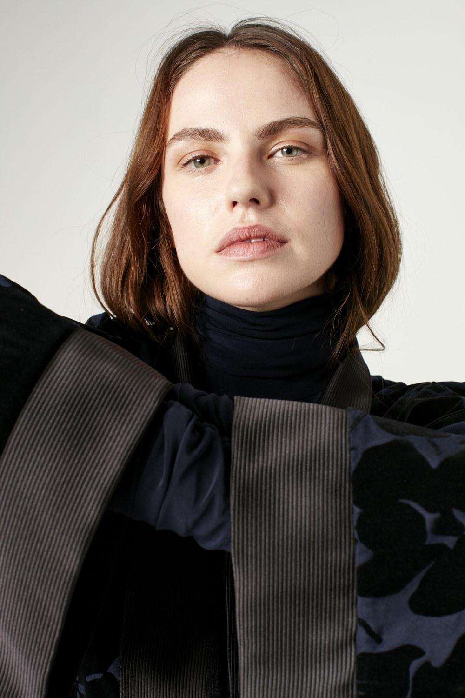 MIZALLE Garnili Kimono (Lacivert) (1)