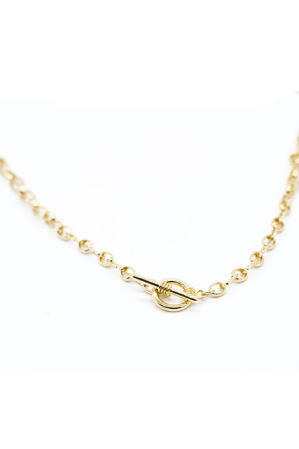 MIZALLE - Cross Chain Necklace (Yellow) (1)