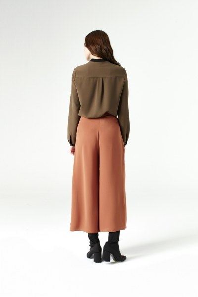 Wide Cut Trousers (Brick Red) - Thumbnail