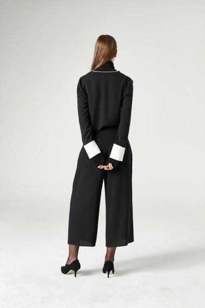 Wide Cut Trousers (Black) - Thumbnail
