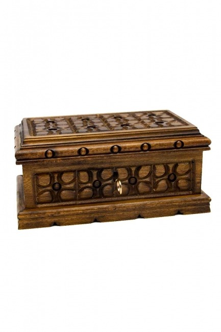 MIZALLE - Geometric Walnut Jewelry Box (St) (1)