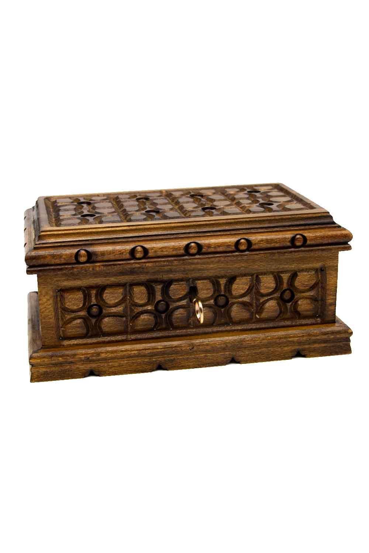 MIZALLE HOME Geometric Walnut Jewelry Box (St) (1)