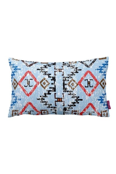 Decorative Pillow Cover With Geometric Border (33X57) - Thumbnail