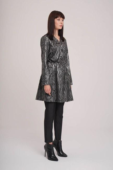 MIZALLE - Glitter Detailed Tunic (Grey) (1)