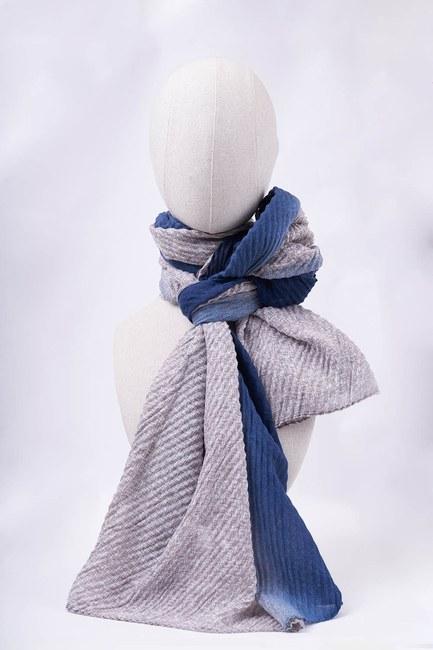 MIZALLE - شال متدرج(الأزرق) (1)