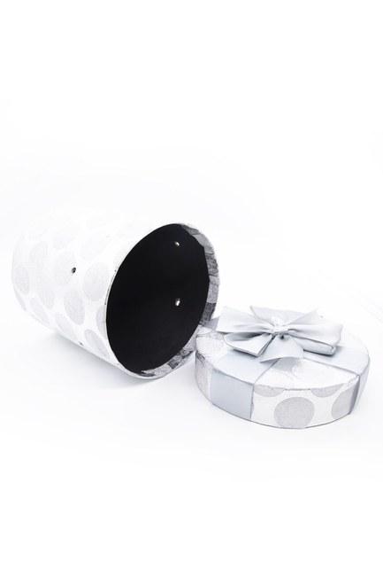 MIZALLE HOME - Grey Round Glossy Box (17X17) (1)