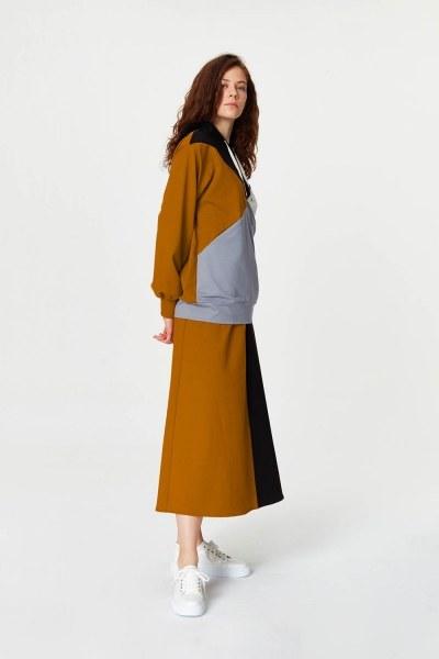 Multi-Pieces Sweatshirt (Grey) - Thumbnail