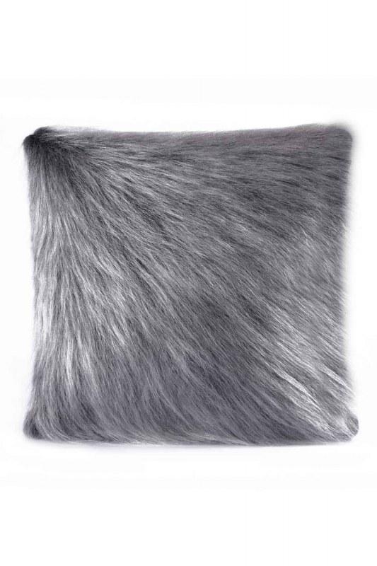 Plush Furry Grey Pillow Case (43X43)