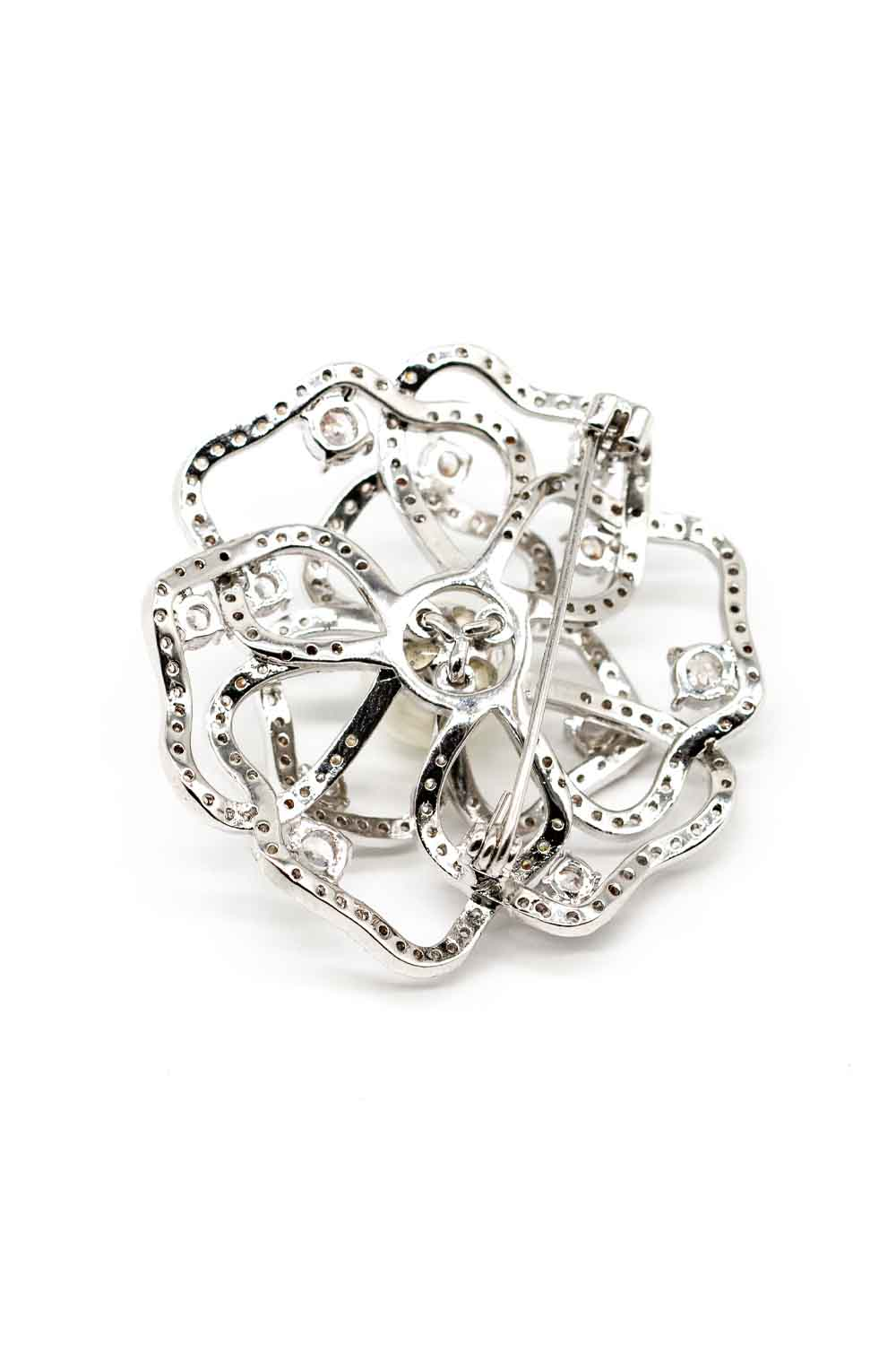MIZALLE Rose Shaped Zircon Brooch (1)