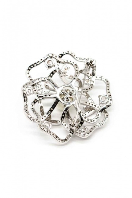 MIZALLE - Rose Shaped Zircon Brooch (1)