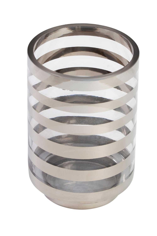 MIZALLE Gümüş Şeritli Mumluk (Büyük) (1)